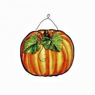 SEASONAL DOOR PLAQUE PUMPKIN