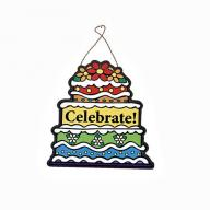 SEASONAL DOOR PLAQUE BIRTHDAY CAKE
