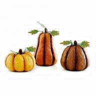 HARVEST PUMPKINS - SET OF 3