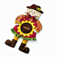 PERSONALIZED SALLY SCARECROW DOOR DECORATION