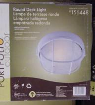 Portfolio Outdoor Round Deck Light