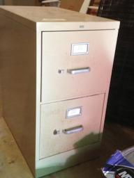 Metal 2 drawer Filing cabinet