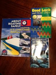 Boating and fishing books $5 for all