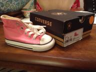 Girls high top converse shoes size 6