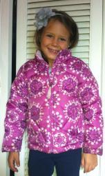 Girls LL Bean winter coat 5-6 with detachable hood