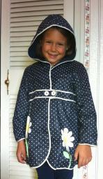 Girls size 6 navy rain jacket