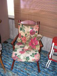 Wooden Chair / Cushions