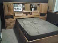 Oak queen bed for sale