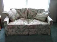 Loveseat sofa with floral print