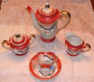 Vintage Dragon Ware 17pc Tea set