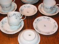 Johann Haviland 'Blue Garland' Bavaria Germany Fine China - 15pcs