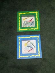 FRAMED CRAYOLA PICTURES