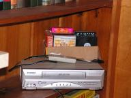 VHS Player and tapes