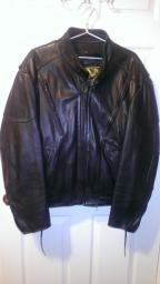 Men's Black Leather Jacket  size 50
