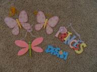 wall decor for kids - butterflies