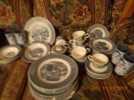 Currier and Ives USA dish set
