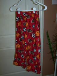 Pajama pants sports theme, red, size 8 med