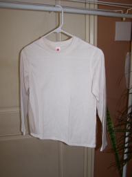 Girls, White long sleeve shirt Size M 8-10