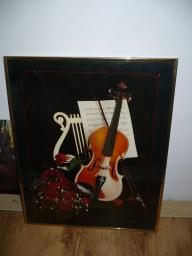 Framed Violin Picture
