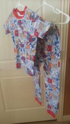 Spider Man Pajama Set Size 10