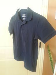 Nave blue short sleeve shirt