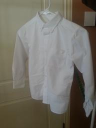 White long sleeve boys dress shirt size sm 6-7