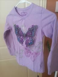 Purple Butterfly Shirt Size M 10-12