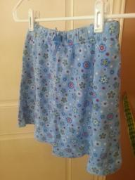 Blue Floral skirt Size 10-12  (wears small more like 7-8)