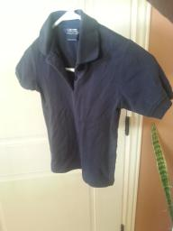 French Toast short sleeve navy girls polo size 7