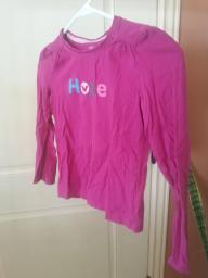 Pink Girls long sleeve shirt size m 7-8