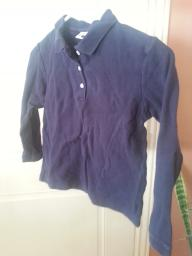 Blue long sleeve girls navy polo size 8