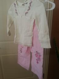 Girls embroidered blouse -pant set size 5
