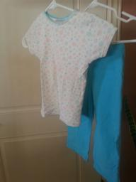 Girls shirt and pant set size 6