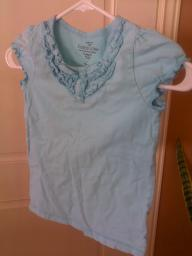 Blue Girls shirt size 8