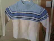 Girls blue/white sweater cotton size sm 4