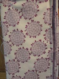 Purple flannel baby blanket