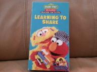 VHS Sesame Street Learning to Share