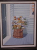 Painting Barrel of Flowers on Porch