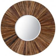 hand made wooden wall mirror 4 Feet by 4 Feet frame, 2 foot mirro