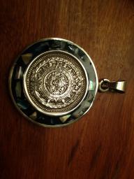 Mayan calendar pendent