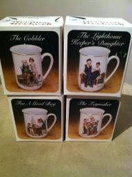 Norman Rockwell  4cup set