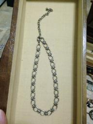 Silver tones necklace