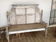 Outstanding Shabby Chic White Porch Bench
