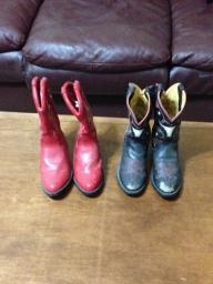 Childrens Cowboy Boots - Red - Size 13