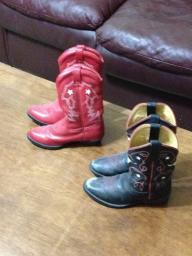 Childrens Cowboy Boots - Black - Size 12.5