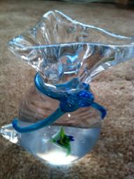 Murano Glass With One Fish in a Bag