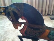 Primitive Vintage Painted Folk Art Metal Horse