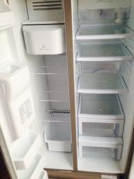 LG Double Door Stainless Steel Refrigerator.