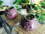 Clay lanterns (purple)