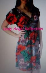 Silky Tropical Cross Over Floral print dress(BRAND NEW)